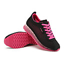 baratos Tênis Feminino-Mulheres Sapatos Sintético Primavera / Outono Conforto Tênis Sem Salto Cadarço Cinzento Verde / Azul / Rosa claro