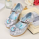 baratos Sapatos de Menina-Para Meninas Sapatos Microfibra Primavera / Outono Salto minúsculos para Adolescentes Saltos Laço para Roxo / Azul / Rosa claro