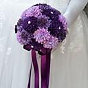 """baratos Bouquets de Noiva-Bouquets de Noiva Buquês Casamento / Ocasião Especial Outros Material / Poliéster 8.66""""(Aprox.22cm)"""