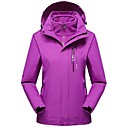 cheap Softshell, Fleece & Hiking Jackets-Women's Hiking 3-in-1 Jackets Outdoor Winter Windproof Winter Jacket 3-in-1 Jacket Top Full Length Visible Zipper Camping / Hiking Ski /