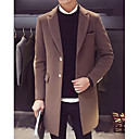 cheap Historical & Vintage Costumes-Men's Long Coat - Solid Colored Shirt Collar / Long Sleeve