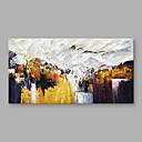 tanie Obrazy: abstrakcja-Hang-Malowane obraz olejny Ręcznie malowane - Streszczenie Nowoczesny Brezentowy / Walcowane płótno