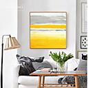 abordables Decoraciones de Pastel-Abstracto Pintura al óleo Arte de la pared,Legierung Material con Marco For Decoración hogareña marco del art Cocina Comedor