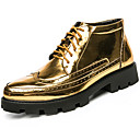 cheap Men's Boots-Men's Bootie Patent Leather Fall / Winter Boots Booties / Ankle Boots Gold / Black / Gray / Party & Evening