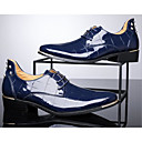 cheap Men's Oxfords-Men's Comfort Shoes Patent Leather Fall / Winter Oxfords Walking Shoes Black / Red / Blue / Combat Boots