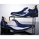 abordables Oxfords para Hombre-Hombre Botas de Combate Cuero Patentado Otoño / Invierno Confort Oxfords Paseo Negro / Rojo / Azul