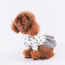 cheap Dog Clothes-Dog Dress Dog Clothes Print Red Blue Cotton Costume For Pets Men's Women's Casual/Daily