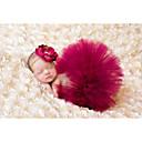 זול אוברולים טריים לתינוקות-סט של בגדים סיבי במבוק ללא שרוולים אחיד פשוט בנות תִינוֹק / פעוטות