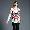 cheap Modern Shoes-SHE IN SUN Women's Shirt - Floral Geometric Shirt Collar