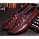 זול נעלי אוקספורד לגברים-בגדי ריקוד גברים עור אביב / סתיו נוחות נעליים ללא שרוכים שחור / חום