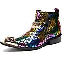 olcso Férfi csizmák-Uniszex Fashion Boots Nappa Leather Ősz / Tél Csizmák Bokacsizmák Arany / Party és Estélyi