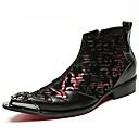 olcso Férfi csizmák-Uniszex Fashion Boots Nappa Leather Ősz / Tél Csizmák Bokacsizmák Fekete / Party és Estélyi