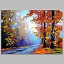 tanie Pejzaże-Hang-Malowane obraz olejny Ręcznie malowane - Krajobraz Rustykalny Brezentowy / Rozciągnięte płótno