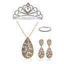 ieftine Colier la Modă-Pentru femei Set bijuterii - Diamante Artificiale Picătură European, Modă Include Coliere cu Pandativ Seturi de bijuterii de mireasă Alb Pentru Nuntă Petrecere