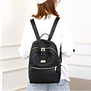 cheap Bag Sets-Women's Bags Oxford Cloth Backpack Zipper Black