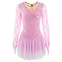 cheap Ice Skating Dresses , Pants & Jackets-Figure Skating Dress Women's / Girls' Ice Skating Dress Pale Pink / Light Sky Blue Spandex Rhinestone / Pearl / Sequin High Elasticity