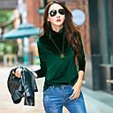 abordables Utensilios de Horno-Mujer Camiseta, Cuello Alto Un Color