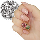 economico Stampini per unghie-1pc fioritura rosa fiore nail art timbratura modello immagine piastra yzwle nail stamping piatti manicure stencil strumenti