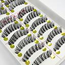 hesapli Takma Kirpikler-Kirpik Takma Kirpiker 20 pcs Hacimlendirilmiş Bukle Fiber Günlük Tam Şerit Kirpikler Çapraz Doğal Uzunlukta - Makyaj Makijaż dzienny Kozmetik Tımar Malzemeleri