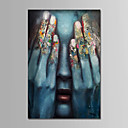 cheap Stretched Canvas Prints-Oil Painting Hand Painted - People Comtemporary Simple Modern Canvas