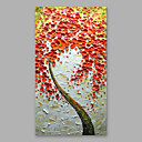 tanie Obrazy: motyw roślinny/botaniczny-Hang-Malowane obraz olejny Ręcznie malowane - Kwiatowy / Roślinny Nowoczesny Naciągnięte płótka / Rozciągnięte płótno