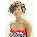 זול פיאות סינטטיות ללא כיסוי-פאות סינתטיות מתולתל שיער סינטטי שיער מובהר חום פאה בגדי ריקוד נשים ללא מכסה