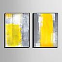 Недорогие Картины в рамах-Холст в раме Набор в раме - Абстракция ПВХ Иллюстрации Предметы искусства