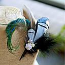 """זול פרחי חתונה-פרחי חתונה פרחי דש מצנפת פרחים מלאכותיים סיכות נוי וסיכות ראש חתונה מסיבה בדים נוצת אווז נוצות 6.3""""(לערך.16ס""""מ)"""