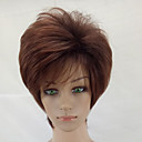 cheap Bag Sets-Synthetic Wig Curly Layered Haircut Synthetic Hair Brown Wig Short Capless Brown / Burgundy