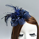 cheap Party Headpieces-Feather / Net Fascinators / Flowers / Hats with Feathers / Fur / Floral 1pc Wedding / Special Occasion Headpiece
