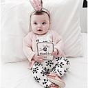 זול אוברולים טריים לתינוקות-תִינוֹק סט של בגדים כותנה אביב שרוול ארוך יומי דפוס בנות רגיל לבן