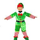 tanie Kostiumy Św. Mikołaja & Świąteczna sukienka-Kostiumy Św. Mikołaja Świąteczna sukienka / Czapka świąteczna Boże Narodzenie / Halloween Festiwal/Święto Kostiumy na Halloween Zielony Święta Bożego Narodzenia Halloween / Święta Bożego Narodzenia