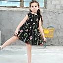 זול שמלות לבנות-שמלה כותנה קיץ ללא שרוולים יומי רקמה הילדה של חמוד שחור