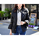 cheap Memory Cards-Women's Daily / Work Vintage / Street chic / Sophisticated Solid Colored Regular Down, Polyester / Nylon Long Sleeve Black M / L / XL