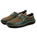 זול פנסים-בגדי ריקוד גברים טול קיץ נוחות נעליים ללא שרוכים חום / ירוק / כחול