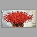 cheap Oil Paintings-Oil Painting Hand Painted - Landscape / Floral / Botanical Classic / Modern Stretched Canvas