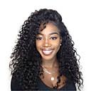 זול תיקי ערב וקלאצ'ים-שיער אנושי חזית תחרה פאה שיער פרואני Kinky Curly גל עמוק פאה עם שיער תינוקות 120% צפיפות שיער שיער טבעי בגדי ריקוד נשים קצר בינוני ארוך פיאות תחרה משיער אנושי CARA / קינקי קרלי
