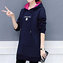 cheap Necklaces-Women's Basic Hoodie - Solid Colored / Letter Cat Black XXL / Fall / Winter