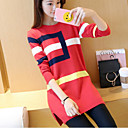 cheap Women's Boots-Women's Long Sleeves Long Pullover - Color Block, Print