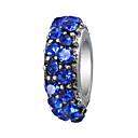 זול חרוזים-תכשיטים DIY 10 יח חרוזים אבן נוצצת סגסוגת סגול ורוד פנינה אדום כחול בהיר כחול ים צילינדר חָרוּז 0.45 cm עשה זאת בעצמך שרשראות צמידים