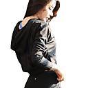 זול ז'קים לטיולים עם שכבה חיצונית רכה, ופליז-בגדי ריקוד נשים קפוצ'ון - שחור, סגול, פוקסיה ספורט צמרות ריצה שרוול ארוך לבוש אקטיבי ייבוש מהיר, עמיד, לביש גמישות גבוהה