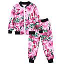 tanie Zestawy ubrań dla dziewczynek-Dzieci Unisex Prosty / Casual Sport Kwiaty Długi rękaw Bawełna Komplet odzieży