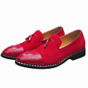 cheap Men's Slip-ons & Loafers-Formal Shoes PU(Polyurethane) Spring / Summer Casual / Comfort Loafers & Slip-Ons Black / Red / Wedding / Party & Evening / Novelty Shoes