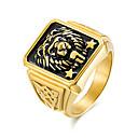 baratos Anéis para Homens-Homens Anel de banda - Fashion 7 / 8 / 9 Dourado Para Trabalho / Escritório e Carreira