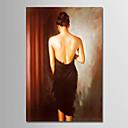 halpa Hääkoristeet-Hang-Painted öljymaalaus Maalattu - Ihmiset Yksinkertainen Moderni Kangas