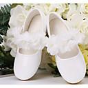 baratos Sapatos de Menina-Para Meninas Sapatos Micofibra Sintética PU Primavera / Outono Conforto / Sapatos para Daminhas de Honra Rasos para Branco