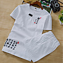 cheap Wooden Puzzles-Men's Chinoiserie Linen T-shirt - Solid Colored