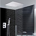 זול אומנות ממוסגרת-עכשווי התקנת קיר מקלחת גשם שפורפרת יד כלולה שסתום קרמי שתי ידיות שלושה חורים כרום, ברז למקלחת