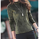cheap Necklaces-Women's Cotton Sweatshirt - Solid Colored Turtleneck