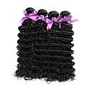 tanie Dopinki w naturalnych kolorach-4 zestawy Włosy brazylijskie Deep Wave Włosy virgin Fale w naturalnym kolorze Ludzkie włosy wyplata Ludzkich włosów rozszerzeniach Damskie